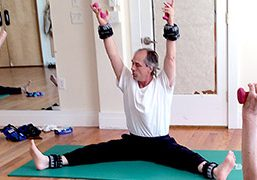 Bob Hannum teaching mat Pilates