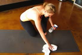 disinfecting exercising mat