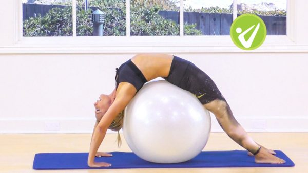 pilates with a ball