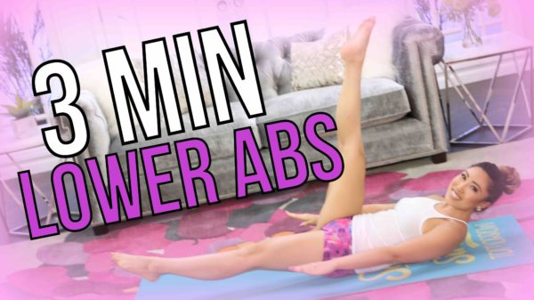 (Video) 3 Minute Lower Ab Pilates